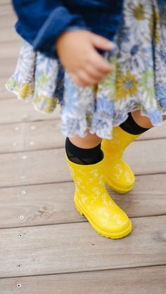 Click to shop the cutest yellow rain boots for children