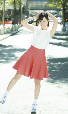 福原遥 Full Skirt Dress, Full Skirts, Good Morning Call, Cute Japanese Girl, Stylish Girl Images, Japan Girl, Asia Girl, Silhouette, Girls Image