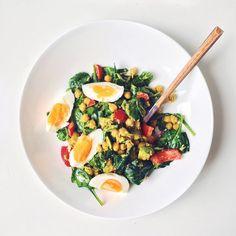 Салат с пророщенным нутом и яйцом | Salatshop ♥ You