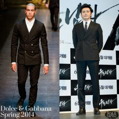 """Male Fashion Trends: Jang Dong-Gun (장동건) en Dolce & Gabbana - """"No Tears For The Dead"""" Press Conference"""