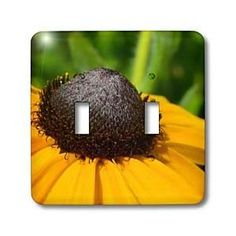 Yellow Flower Macro - Light Switch Covers - double toggle switch