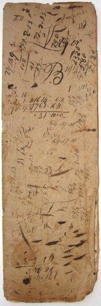 Anonymous Works: Circa 1790 Boston Wharf Merchant Ledger