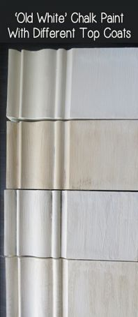 old white chalk paint looks with different finishes