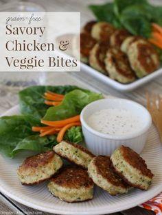 Chicken & Veggie Bites (Grain-Free, Dairy-Free)