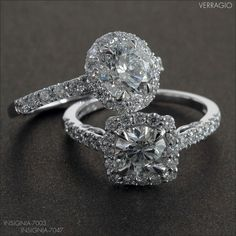 Verragio engagement ring and wedding ring