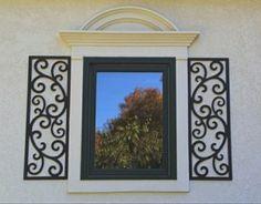 Wrought Iron Exterior Window Shutters - Metal Wall Art | Metal wall ...