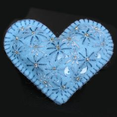 My Blue Embroidered Heart by MarieLynn, via Flickr