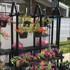 Floral Dunnage Display or Bench Rack – Fixtures Close Up Plant Shelves Outdoor, Visual Merchandising, Bench, Display, Farms, Floral, Plants, Retail, Style