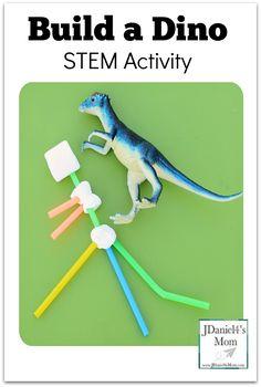 Build a Dino STEM Activity - Build a dinosaur using straws and marshmallows.