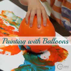 Preschool Art with Balloons