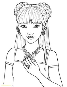 12 Best Girls Coloring Pages Images In 2019