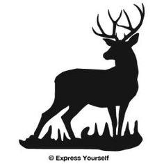 Mule Deer Buck Sillhouette