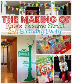 sesame street first birthday party ideas   ... post to see kate s sesame street 2nd birthday party in its entirety
