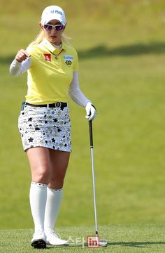 Girl Golf Outfit, Cute Golf Outfit, School Girl Outfit, Girl Outfits, Kia Motors, Girls Golf, Golf Wear, Great Women, Golf Fashion