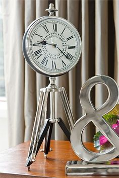 Buy Home Decor Online - Vases & Candlelight, Picture frames, Wall Art, Cushions, Throws, Window dressing, Decorative accents - Tripod Clock - EziBuy Australia