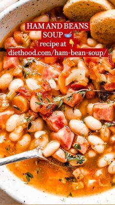Best Ham And Bean Soup Recipe, Bean Soup Recipes, Healthy Cooking, Cooking Recipes, Healthy Recipes, Crock Pot Cooking, Diet Recipes, Cake Recipes, Recipies