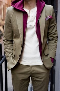 Great way to dress down the suit. For when you feel like wearing one but don't want to look to formal.