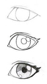 Some good eyelash info! JohnnyBro's How To Draw Manga: Drawing Manga Ey. Some good eyelash info! JohnnyBro's How To Draw Manga: Drawing Manga Eyes (Part I) - Pencil Art Drawings, Art Drawings Sketches, Cool Drawings, Drawing Faces, Simple Drawings For Kids, Easy Manga Drawings, Pencil Drawings For Beginners, Kawaii Drawings, Good Easy Drawings