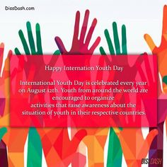 Because we have the power to change the world. A little about what International Youth Day actually means. #InternationalYouthDay #Youth #DissDash #Young #free #spirits #thinkers #changemakers #change #world #globe #social #issue #progress #wild #catch #buzz #feed #content #happenings #current #trends #events #entertainment #gossip #unique #stories For more global stories - Link in the bio.