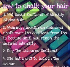 Hair chalking!