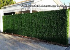artificial boxwood hedge for fence, railing covering in yard, garden, patio, or deck~