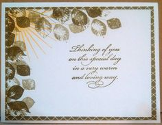 Birthday card for Operation Write Home, used Kinda Eclectic stamp set by Stampin Up