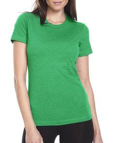 Next Level Apparel Women's CVC Crewneck T-Shirt, Kelly Green, Medium