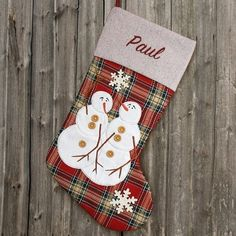 534cdbe86 Embroidered Snowman Christmas Stocking from GiftsForYouNow. Our Embroidered  Snowman Christmas Stockings are personalized for your entire family.