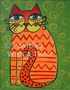 "Summer Kids Painting Camp - ""Laurel Burch Cats"" 