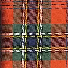 "MacLean Tartan - Duart Red Ancient  Tartan -  Clan MacLean Motto: Virtue mine honour - ""Virtue is my distinction"""