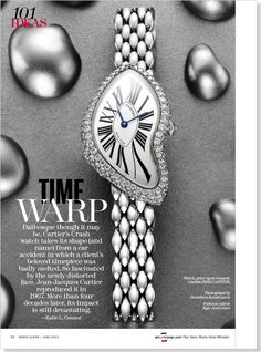 Time Warp clipped from Marie Claire using Netpage.