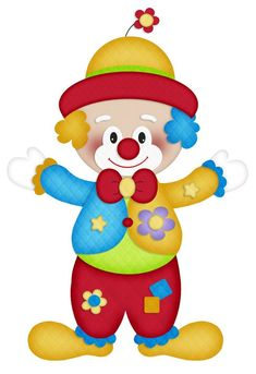 Photo by - Minus Circus Clown, Circus Theme, Circus Party, Clown Crafts, Circus Crafts, Clown Party, Clipart Baby, Painting For Kids, Art For Kids