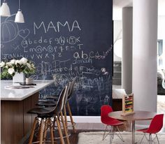 Still loving #chalkboard #walls... they've become a bit of a cliche, but I'm thinking they're a new classic... #www.anyahinteriors.com.au