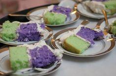 18. A traditional or non-traditional cake  A custom ube (purple yam) and pandan (green tea) cake. #modcloth #wedding