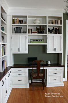 Wonderfull home office built ins - small business home office small office home office design residential office furniture office design small space Home Office Space, Home Office Design, Home Office Decor, Home Decor, Office Ideas, Office Designs, Small Office, Office Style, Bookshelves Built In