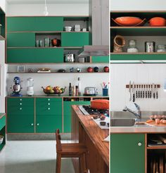 green kitchen #pantone #emeraldgreen #decor #green