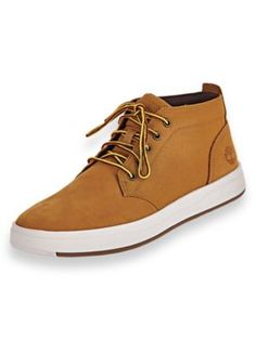 Timberland® Davis Square Leather Boots - Leather and canvas chukkas, by the brand first known for their iconic wheat-colored boots. Upper features leather sourced by an environmen Suede Ankle Boots, Leather Boots, Black Leather, Burberry Men, Gucci Men, Brand Name Shoes, Tom Ford Men, Timberland Mens, Shoes