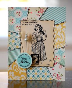 This card is such a fun DIY idea to make for someone who sews.