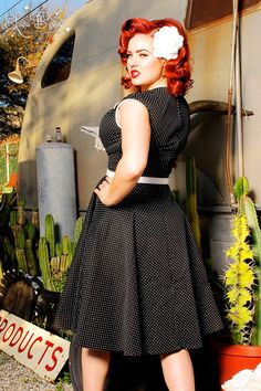 Shop Pinup Girl Clothing for cute and sexy vintage inspired dresses, skirts, tops, and pants. We believe beauty comes in all sizes from 1940s Fashion, Girl Fashion, Vintage Fashion, Rockabilly Fashion, Rockabilly Style, Rockabilly Party, Rockabilly Girls, 1950s Swing Dress, Robes Pin Up