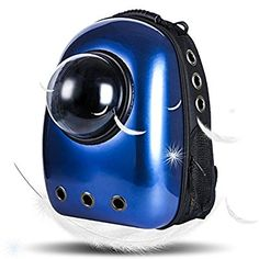 Lemonda Portable Travel Pet Carrier,Space Capsule Bubble Design,Waterproof Handbag Backpack for Cat and Small Dog Mutil Colors to Choose (Dark Blue)