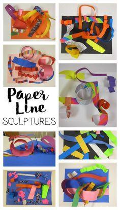 Line Sculptures with Kindergarten