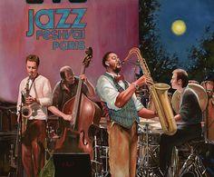 jazz festival in Paris Painting