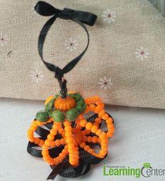 FREE DIY - Hanging Beaded Pumpkin Decoration featured in Sova-Enterprises.com Newsletter!
