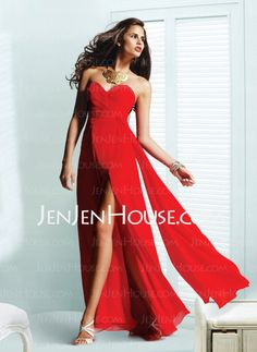 Prom Dresses - $109.99 - Elegant A-Line/Princess Sweetheart Floor-Length Chiffon Charmeuse Prom Dresses With Ruffle (018004789) http://jenjenhouse.com/A-line-Princess-Sweetheart-Floor-length-Chiffon-Charmeuse-Prom-Dresses-With-Ruffle-018004789-g4789
