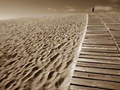 Vlies fotobehang Horizon - Strand behang   Muurmode.nl