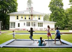 An in-ground trampoline...don't mind if I do! Someday my backyard will have this.