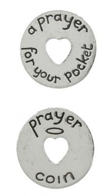 Inspirational Pocket Pewter Tokens 12 Pack Double Sided Serenity Prayer