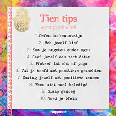 10 oefeningen in positief denken - Happinez Positive Living, Positive Vibes, Live Love Life, Self Confidence Tips, Sunshine Quotes, Mood Lifters, Dutch Quotes, Just Be You, Spiritual Inspiration