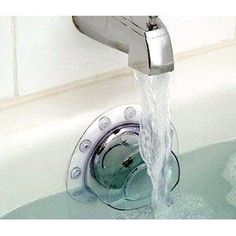 so we can finally take relaxing baths without the annoying drain sound. i've seen this at Bed, Bath and Beyond. I'm gonna get one!