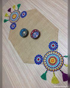 Crochet Doily Rug, Crochet Carpet, Crochet Home, Crochet Trim, Diy Crochet, Baby Knitting Patterns, Knitting Stitches, Mandala Motif, Crochet Table Runner
